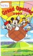 Télécarte JAPON * 110-193740 * DISNEY STORE (4876) PHONECARD JAPAN * Telefonkarte  GRAND OPENING * TIRAGE 6.000 * BALLON - Disney
