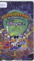 Télécarte JAPON * 110-213196 * DISNEY SEA (4882) PHONECARD JAPAN * TK GRAND OPENING * GOOFY DONALD DUCK MICKEY MINNIE - Disney