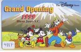Télécarte JAPON * 110-205466 * DISNEY STORE (4887) PHONECARD JAPAN * Telefonkarte * GRAND OPENING * TIRAGE 3.000 - Disney