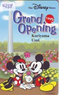 Télécarte JAPON * 110-208941 * DISNEY STORE (4888) PHONECARD JAPAN * Telefonkarte * GRAND OPENING * TIRAGE 3.000 - Disney