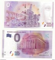 BILLET TOURISTIQUE ZERO EURO  LA MAISON CARREE  à NIMES  NEUF SUPERBE - EURO