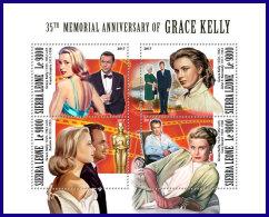 SIERRA LEONE 2017 MNH** Grace Kelly Jon F. Kennedy JFK M/S - OFFICIAL ISSUE - DH1801 - Kennedy (John F.)
