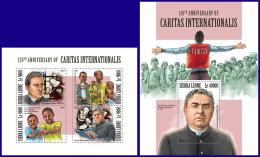 SIERRA LEONE 2017 MNH** Lorenz Werthmann Caritas International M/S+S/S - OFFICIAL ISSUE - DH1801 - Vereine & Verbände