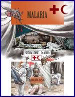 SIERRA LEONE 2017 MNH** Malaria Paludisme S/S - IMPERFORATED - DH1801 - Krankheiten