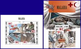 SIERRA LEONE 2017 MNH** Malaria Paludisme M/S+S/S - IMPERFORATED - DH1801 - Krankheiten