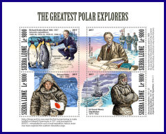 SIERRA LEONE 2017 MNH** Polar Explorers Polarforscher Explorateurs Polaires M/S - IMPERFORATED - DH1801 - Polarforscher & Promis