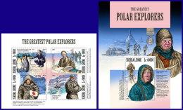 SIERRA LEONE 2017 MNH** Polar Explorers Polarforscher Explorateurs Polaires M/S+S/S - IMPERFORATED - DH1801 - Polarforscher & Promis