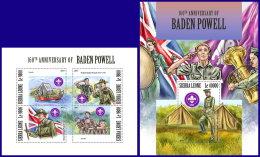 SIERRA LEONE 2017 MNH** Scouts Pfadfinder Robert Baden Powell M/S+S/S - IMPERFORATED - DH1801 - Pfadfinder-Bewegung