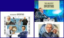 SIERRA LEONE 2017 MNH** Greatest Inventors Erfinder Inventeurs M/S+S/S - IMPERFORATED - DH1801 - Wissenschaften