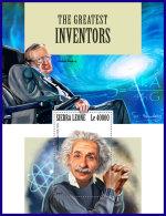 SIERRA LEONE 2017 MNH** Inventors Einstein Hawking S/S - IMPERFORATED - DH1801 - Wissenschaften
