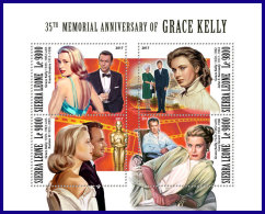 SIERRA LEONE 2017 MNH** Grace Kelly Jon F. Kennedy JFK M/S - IMPERFORATED - DH1801 - Kennedy (John F.)