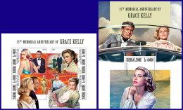 SIERRA LEONE 2017 MNH** Grace Kelly Cinema Kino Film M/S+S/S - IMPERFORATED - DH1801 - Kino