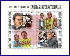 SIERRA LEONE 2017 MNH** Lorenz Werthmann Caritas International M/S - IMPERFORATED - DH1801 - Vereine & Verbände