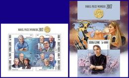 SIERRA LEONE 2017 MNH** Nobel Prize Winners Nobelpreisträger Nobel Prix 2017 M/S+S/S - IMPERFORATED - DH1801 - Nobelpreisträger
