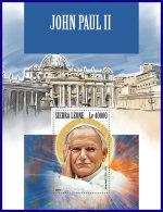 SIERRA LEONE 2017 MNH** Pope John Paul II. Papst Paul II. Pape John Paul II. S/S - IMPERFORATED - DH1801 - Päpste
