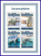 TOGO 2017 MNH** Polar Bears Polarbären Eisbären Ours Polaires M/S - OFFICIAL ISSUE - DH1801 - Bären