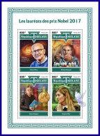 TOGO 2017 MNH** Nobel Prize Winners Nobelpreisträger Nobel Prix 2017 M/S - OFFICIAL ISSUE - DH1801 - Nobelpreisträger