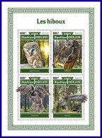 TOGO 2017 MNH** Owls Eulen Hiboux M/S - OFFICIAL ISSUE - DH1801 - Eulenvögel