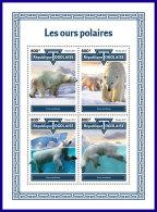 TOGO 2017 MNH** Polar Bears Polarbären Eisbären Ours Polaires M/S - IMPERFORATED - DH1801 - Bären