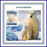 TOGO 2017 MNH** Polar Bears Polarbären Eisbären Ours Polaires S/S - IMPERFORATED - DH1801 - Bären