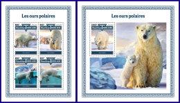 TOGO 2017 MNH** Polar Bears Polarbären Eisbären Ours Polaires M/S+S/S - IMPERFORATED - DH1801 - Bären