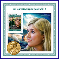 TOGO 2017 MNH** Nobel Prize Winners Nobelpreisträger Nobel Prix 2017 S/S - IMPERFORATED - DH1801 - Nobelpreisträger