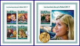 TOGO 2017 MNH** Nobel Prize Winners Nobelpreisträger Nobel Prix 2017 M/S+S/S - IMPERFORATED - DH1801 - Nobelpreisträger
