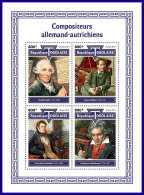 TOGO 2017 MNH** Composers Haydn Mahler Schubert Van Beethoven M/S - IMPERFORATED - DH1801 - Musik