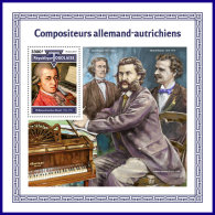 TOGO 2017 MNH** Composers Mozart S/S - IMPERFORATED - DH1801 - Musik