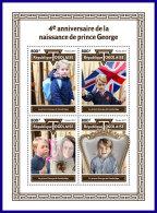 TOGO 2017 MNH** 4th Birthday Prince George M/S - IMPERFORATED - DH1801 - Königshäuser, Adel