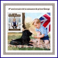 TOGO 2017 MNH** 4th Birthday Prince George S/S - IMPERFORATED - DH1801 - Königshäuser, Adel
