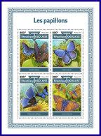 TOGO 2017 MNH** Butterflies Schmetterlinge Papillons M/S - IMPERFORATED - DH1801 - Schmetterlinge