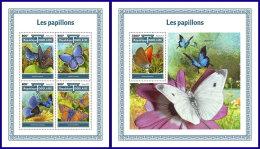 TOGO 2017 MNH** Butterflies Schmetterlinge Papillons M/S+S/S - IMPERFORATED - DH1801 - Schmetterlinge