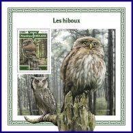 TOGO 2017 MNH** Owls Eulen Hiboux S/S - IMPERFORATED - DH1801 - Eulenvögel