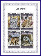 TOGO 2017 MNH** Cats Katzen Chats M/S - IMPERFORATED - DH1801 - Hauskatzen