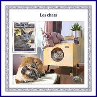 TOGO 2017 MNH** Cats Katzen Chats S/S - IMPERFORATED - DH1801 - Hauskatzen