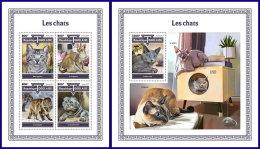 TOGO 2017 MNH** Cats Katzen Chats M/S+S/S - IMPERFORATED - DH1801 - Hauskatzen