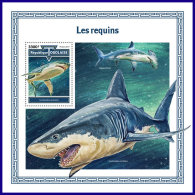 TOGO 2017 MNH** Sharks Haie Requins S/S - IMPERFORATED - DH1801 - Meeressäuger