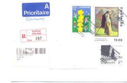 2000. Denmark,  The Letter Sent By  Registered Air-mail Post To Moldova - Danimarca