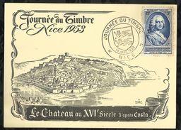 JOURNEE DU TIMBRE . NICE .  14 MARS 1953 . NICE . - 1950-1959