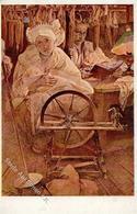 Mucha, A. Faru Spinnrad Künstlerkarte I-II - Unclassified