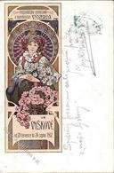 Mucha, A. Frau Jugendstil  Künstlerkarte 1902 I-II (fleckig) Art Nouveau - Unclassified