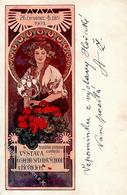 Mucha, A. Frau Jugendstil  Künstlerkarte 1903 I-II Art Nouveau - Unclassified
