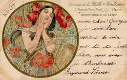 Mucha, Alfons Frau Jugendstil 1902 I-II (fleckig) Art Nouveau - Illustrators & Photographers