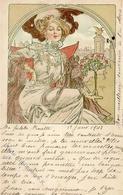 Mucha, Alfons Frau Jugendstil 1902 I-II (fleckig, Stauchung) Art Nouveau - Illustrators & Photographers