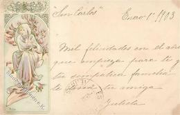 Mucha, Alfons Frau Jugendstil 1903 I-II (Eckbug) Art Nouveau - Illustrators & Photographers