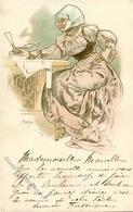 Mucha, Alfons Frau Jugendstil 1905 I-II (Ecke Abgestossen) Art Nouveau - Illustrators & Photographers