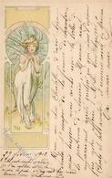 Mucha, Alfons Frau Jugendstil 1909 I-II (fleckig) Art Nouveau - Illustrators & Photographers