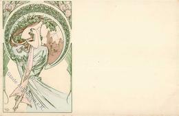 Mucha, Alfons Frau Jugendstil I-II Art Nouveau - Illustrators & Photographers
