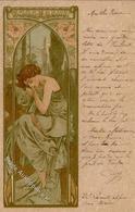 Mucha, Alfons Frau Jugendstil I-II (Eckbug) Art Nouveau - Illustrators & Photographers